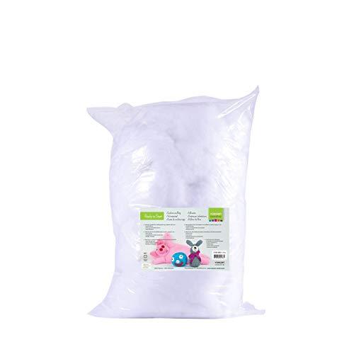 Vaessen Creative Relleno de Fibra de Poliéster Blanco Suave para la Fabricación de Peluches DIY, Cojines y Manualidades, 500gr