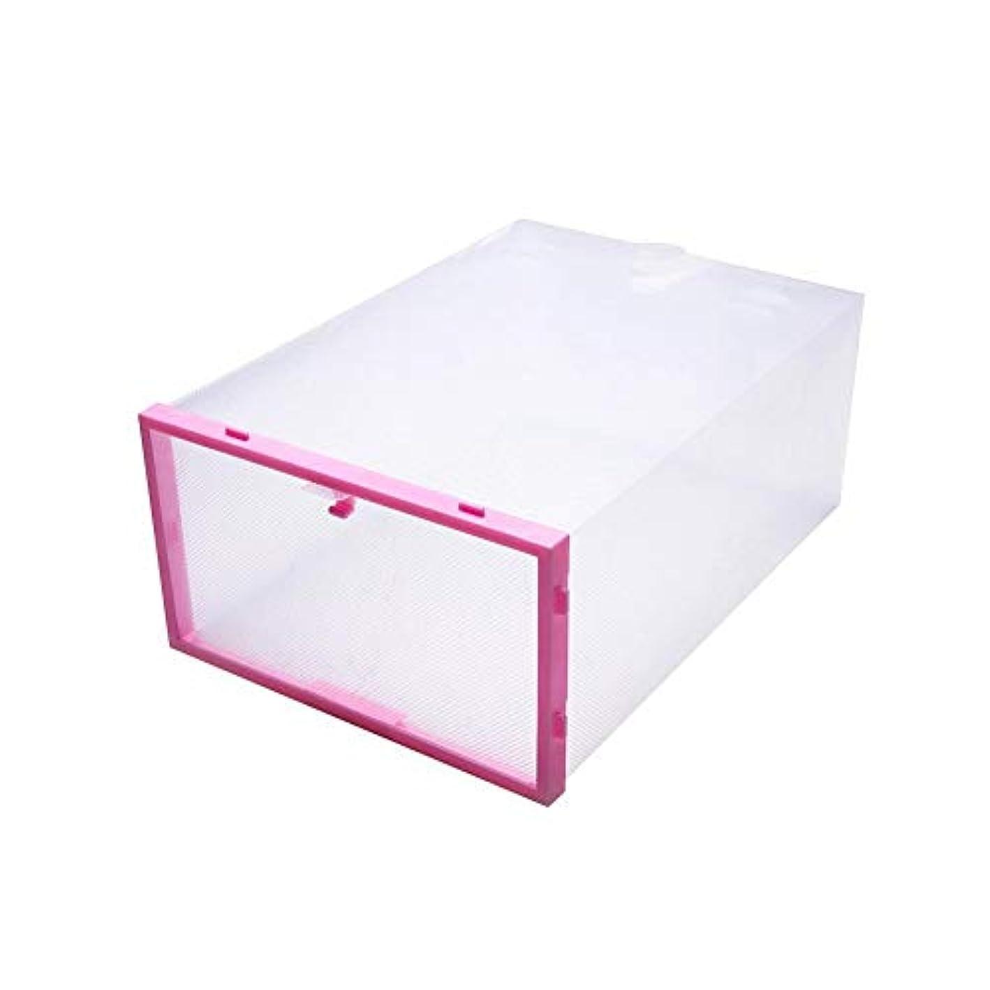 zhangbiao12 1pcs Shoe Storage Box Transparent Drawer Dustproof Thick Storage Shoe Box Plastic Storage Box