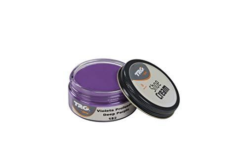 TRG Thoe One 182 - Crema para calzado y complementos de piel y piel sintética 50 ml, Morado (182 Deep Purple)