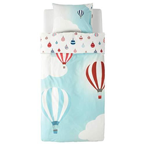 Ikea Upptag Duvet Cover and Pillowcase air Balloon Pattern Blue Twin 704.403.12