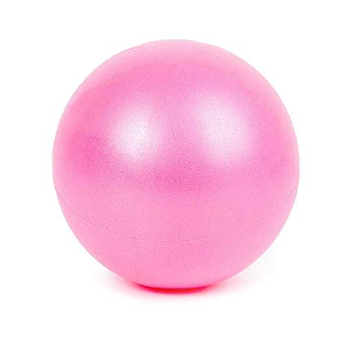 tggh Suministros de yoga de 25 cm Mini gimnasia Fitness Ball Balance Ejercicio Yoga Ball Gym Fitness Pilates Ball Interior adelgazante Pelota de entrenamiento (Color: Rosa)