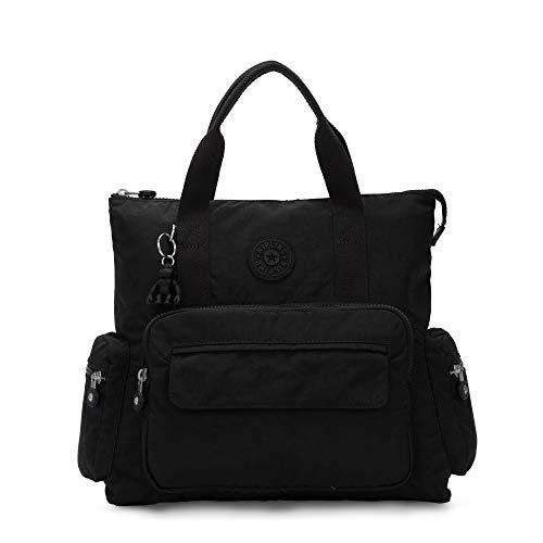 Kipling Alvy 2-in-1 Convertible Tote Bag Backpack Black Noir