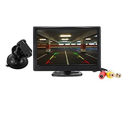 GUANGMING ZhengFeng Shop Monitor de Coche de 5 Pulgadas TFT LCD 5'HD Digital 16: 9 800 * 480 Pantalla 2 vías Entrada de Video Ajuste para la cámara Trasera inversa DVD VCD (Color : Cup)