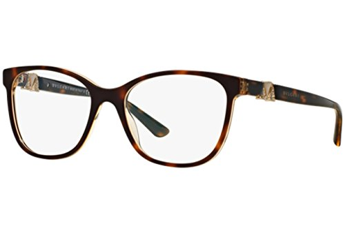 Bulgari Brillen Für Frau 4118B 5379, Tortoise / Brown Crystal Kunststoffgestell, 52mm