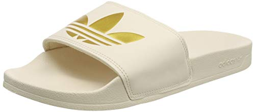 adidas Adilette Lite W, Scarpe da Ginnastica Donna, Linen/Gold Met./Linen, 39 EU