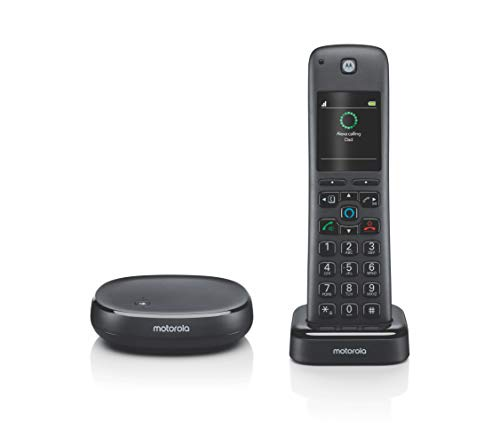 Motorola AXH01 AX Series DECT 6.0 Cordless Digital Phone and Answering System with Built-in Alexa (1 Handset)