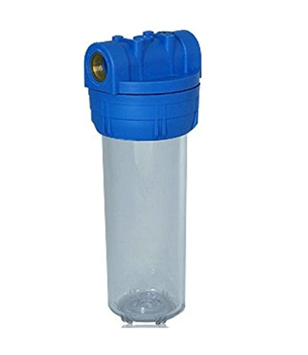 """Filtergehäuse 10\"""" u 1\"""" Wasseranschluß als Innengewinde Wasser Vorfilter Gehäuse osmoseanlage Wasserfilter Umkehr Osmose Trinkwasser Filter Anlage Hauswasserwerk Brunnen Wasser Regenwasser Pumpe"""