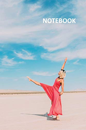 Notebook: Dancing on the beach Practical Composition Book Daily Journal Notepad Diary Student for researching contemporary dance classes for beginners