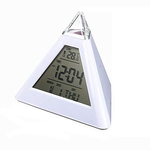SWETIY Despertador,Despertador Digital con Pantalla Grande, Temperatura, Repetición, Snooze, Alimentado por USB con 2 Alarmas, 40 Tonos De Llamada, 12/24 Horas Ajustables