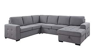 Acme Furniture Nardo Sectional, Gray (B08JGD557V) | Amazon price tracker / tracking, Amazon price history charts, Amazon price watches, Amazon price drop alerts