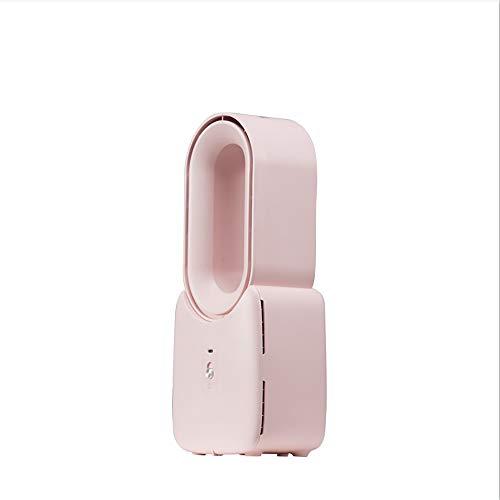 XDXDO Heizlüfter, Heizlüfter mit einstellbarer Temperatur und Überhitzungsschutzfunktion, Doppelfunktion kalt und heiß, geeignet für Home Office, Rosa