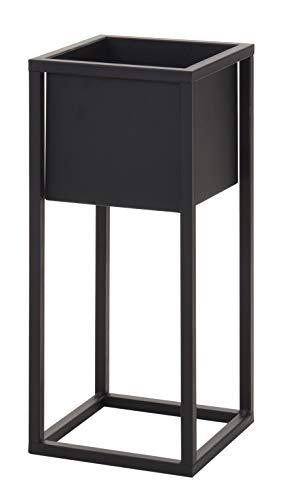 Blumentopf mit Gestell Metall schwarz Pflanzgestell Pflanztopf Pflanzkasten Höhe 50 oder 70 cm (Höhe 50 cm)