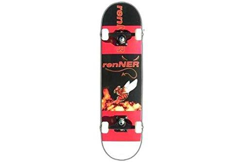 Renner Devil una serie 3, colore: nero/rosso-Skateboard completo, 19,05 (7,5 cm