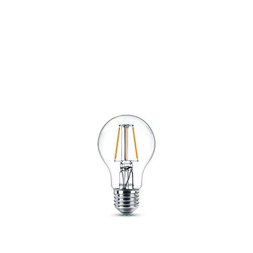 Philips LED-Leuchtmittel, entspricht 40 W, E27, warmweiß, nicht dimmbar, Glas, 2 Stück