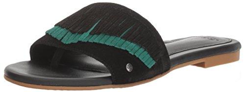 UGG Women's Binx Flat Sandal, Black, 7 US/7 B US