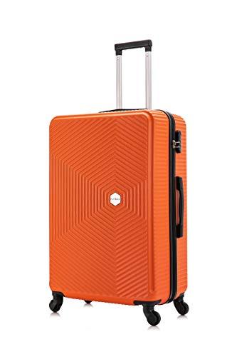 Flymax Maleta de 4 ruedas superligera ampliable con ruedas de retención de chequeo de viaje con carcasa dura ABS