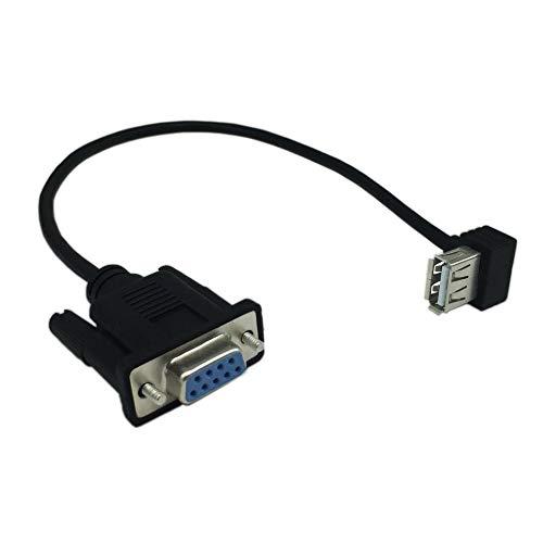 Tree-es-Life USB 2.0 A Hembra a RS232 DB9 Hembra convertidor de Adaptador de Cable Serie Construido con chipset FTDI adaptadores confiables Negro