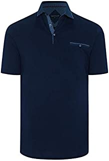 Tarocash Men's Atlantic Polo Long Sleeve Fit Sizes XS-5XL for Going Out Smart Casual