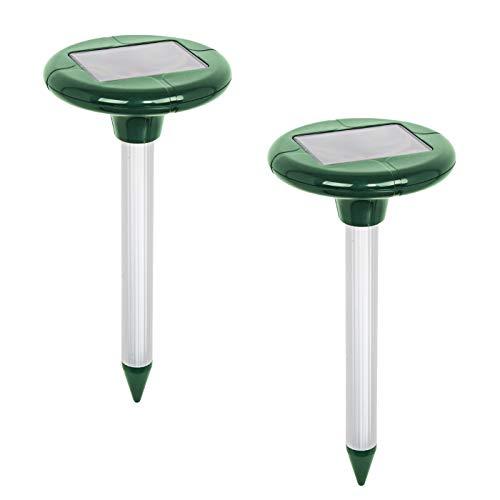 """VOSS.sonic Doppelpack: 2 MoleEx 1000\"""" Maulwurfvertreiber Solar, mit Ton & Vibration, Wühltierfrei, Wühlmaus, 2X Maulwurfabwehr für 650qm"""