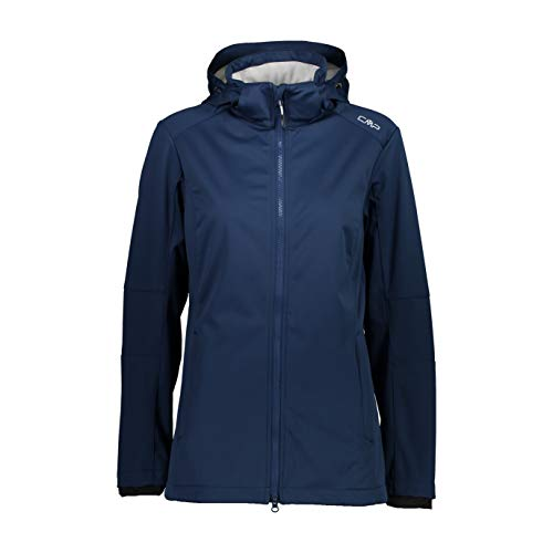 CMP Giacca Softshell Long Fit, Donna, 44, Blue-Stone