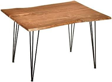 Carolina Classic SETI Live Edge Dining Table in Natural and Black
