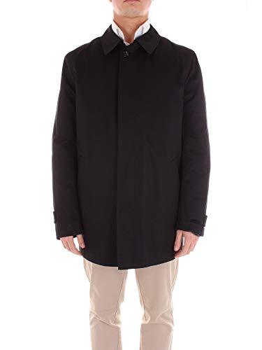 Luxury Fashion | Richard Smith Heren ELMO54285BLU Donkerblauw Synthetische Vezels Mantels | Seizoen Outlet