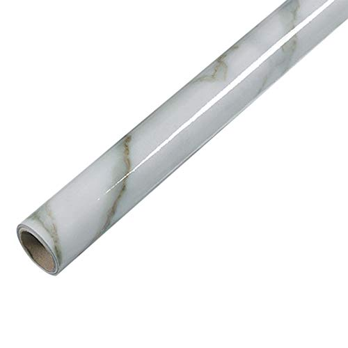 Papel de contacto de mármol de la cocina de PVC pegatinas de pared de mármol para encimera, pegatinas de baño autoadhesivas, impermeable, 4,3000 mm