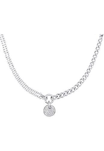 JETTE Silver Damen-Kette 925er Silber 46 Zirkonia One Size 87009327