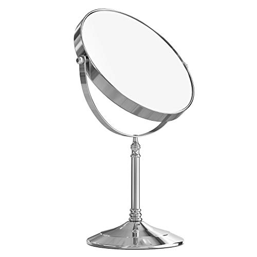 SONGMICS BBM006 Cosmetic Mirror 10 Compartments + Normal Double-Sided Table Mirror