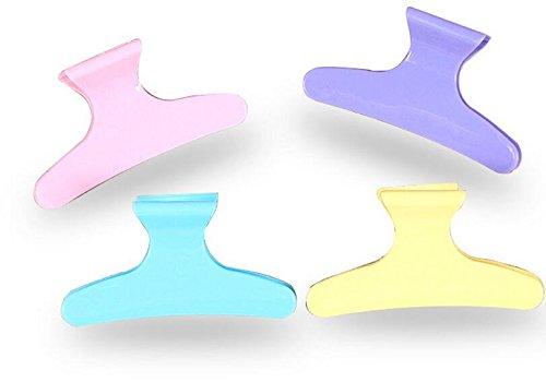 JinZhiCheng 4/Set Kunststoff Farbe Haarklammer Clip für Frauen Friseur