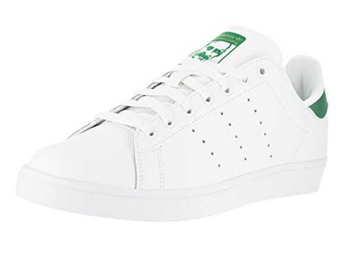 adidas Originals Herren Stan Smith Vulcanized Turnschuh, Schuhe Weiß/Grün, 36.5 EU