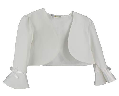 Boléro - Chaqueta blanca o marfil para niña y bebé, boda, bautizo o comunión, color blanco Ivoire - Ecru 2 años