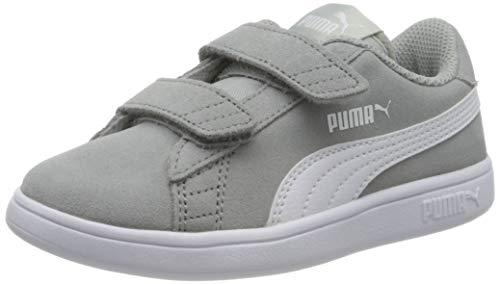 Puma Unisex-Kinder Smash v2 SD V Inf Sneaker, Grau (High Rise White), 33 EU