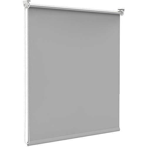 Finley Store Enrouleur Occultant Isolant Thermique Opaque Gris Clair 120 x 170 cm Fixation avec ou sans perçage