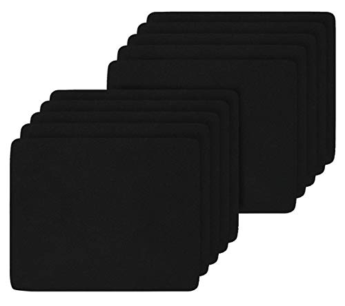 (10 Pack) 2MM Thickness Speed Rubber Mouse Pad Black 1030 Skid Resistant -Black
