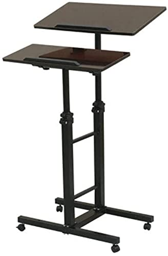 Mobile laptop desk Mobile laptop desk - Mobile stand-up desk simple dining table with lift portable double table for bedside table Adjustable laptop table (color): B-B