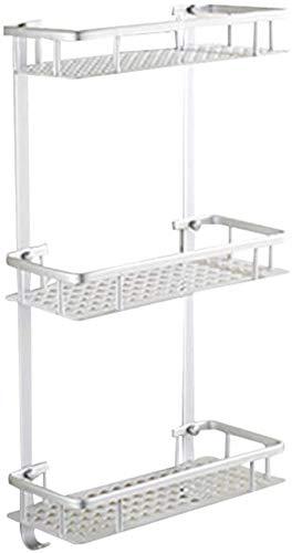 AINIYF Los estantes baño Baño ducha Organizador de aluminio del espacio Triángulo 2/3 Niveles grabado hueco Diseño Antiséptico, 4 estilos (Tamaño: D-320x140x595mm), Tamaño: D-320x140x595mm, Color: Una