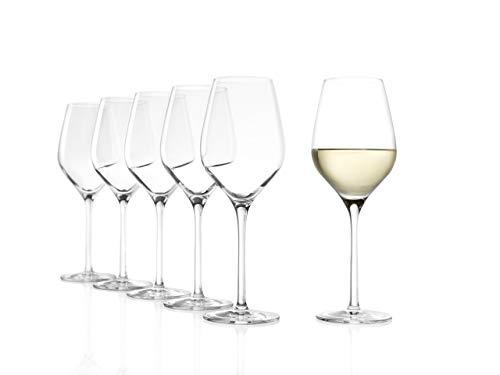 Stölzle Lausitz Weißweingläser Exquisit Royal 350ml I Weißweingläser 6er Set I Weingläser spülmaschinenfest I Weißwein Kelche Set bruchsicher I hochwertiges Kristallglas I schöne Weingläser
