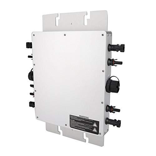 Mikro-Wechselrichter, WVC-1200W IP65 Wasserdichte MPPT-Funktion Solar Power Grid Tie Reine Sinus-Photovoltaik-Wechselrichter-Leistung mit Umgekehrter Leistungsübertragung für Stromerzeugungssysteme