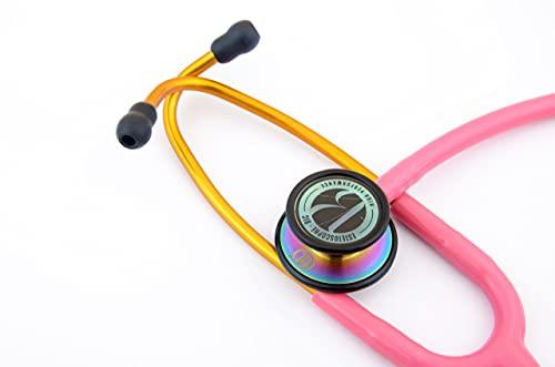 Estetoscópio Duplo Inox Profissional Com Garantia Bic Cores (Rosa)