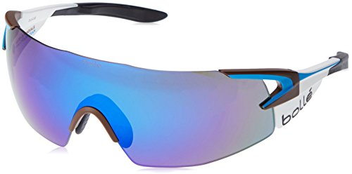 bollé 5th Element Pro-Gafas de Sol de Ciclismo Talla M, Color Blanco