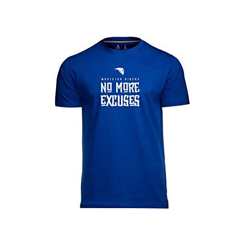 Movistar Riders No More Excuses Camiseta, Azul, Small (Tamaño del Fabricante:S) para Hombre