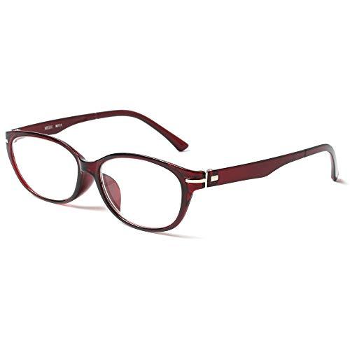 MIDI-ミディ 老眼鏡 UVカット 大きめのレンズを使った緩やかなラインのキャットアイフレーム リーディンググラス レディース チェリーレッド 度数+2.00 (m111,c2,+2.00)