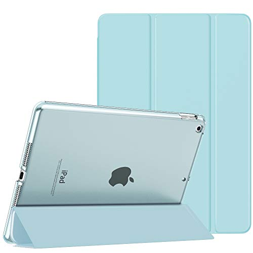 MoKo Case Fit New iPad 8th Gen 2020 / 7th Generation 2019, iPad 10.2 Case - Slim Lightweight Smart Shell Stand Cover with Translucent Frosted Back Protector for iPad 10.2', Sky Blue(Auto Wake/Sleep)