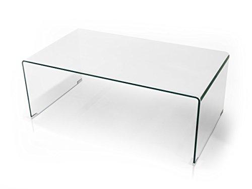 moebel-eins Cecile Couchtisch Tisch Wohnzimmertisch Beistelltisch Sofatisch Glas Klarglas