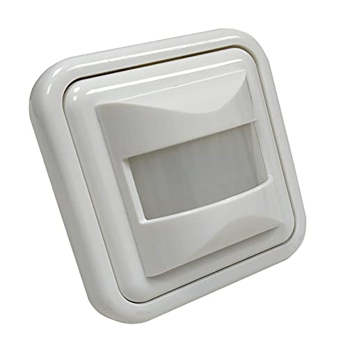 Detector Movimiento Empotrable de Pared para Led. Sensor de Presencia. Medidas Standard compatibles Caja Pared.