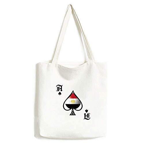 Ägyptische Nationalflagge Fußball Handtasche Craft Poker Spaten waschbare Tasche