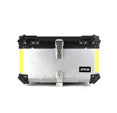 Kxlbhjxb 40L 60L Motocicleta Tapa trasera trasera Caja de equipaje Tronco de almacenamiento Soporte de casco llavero Logotipo Logotipo Kit de caja de herramientas de aluminio Caja de herramien