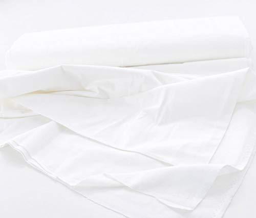 TOLKO Baumwollstoffe Meterware | Deko-Molton Stoff für Verdunklungsvorhänge | 300cm breit | 1mm dick | zum Nähen und Dekorieren (Weiß)