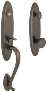 Rockwell Premium 200 Series Single Cylinder Handle Set Durable door hardware, door handles, exterior door handle in Antique Black